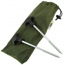 NGT A Pack of 10 x 20cm Bivvy Pegs in Case  Zestaw śledzi